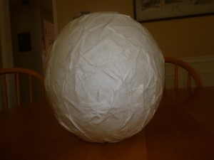 Paper mache nighlight