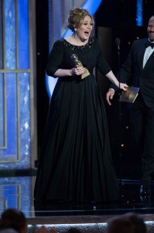 Adele at Golden Globes @meredithspidel