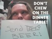 Don't Chew on the Dinner Table badge @dontchew @meredithspidel