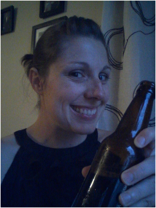 prop-selfie picture with beer tips with alisa @meredithspidel
