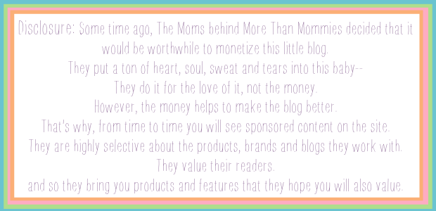 When More than Mommies nailed this explanation of compensated blogging.  You rock, ladies!