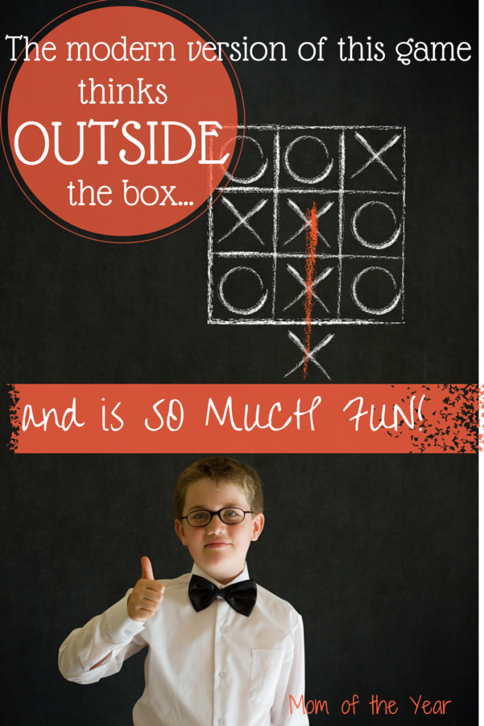 Anxious to get your kids away from the videos games and doing something active or creative with their minds? This new version of Tic Tac Toe is so much fun for the whole family! Family game night is ON!