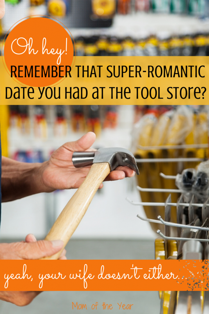 When my husband decided to swing by the tool store for date night, let's just say it was one of the more interesting evenings of our marriage. Head over and read how we are totally rocking couple time!