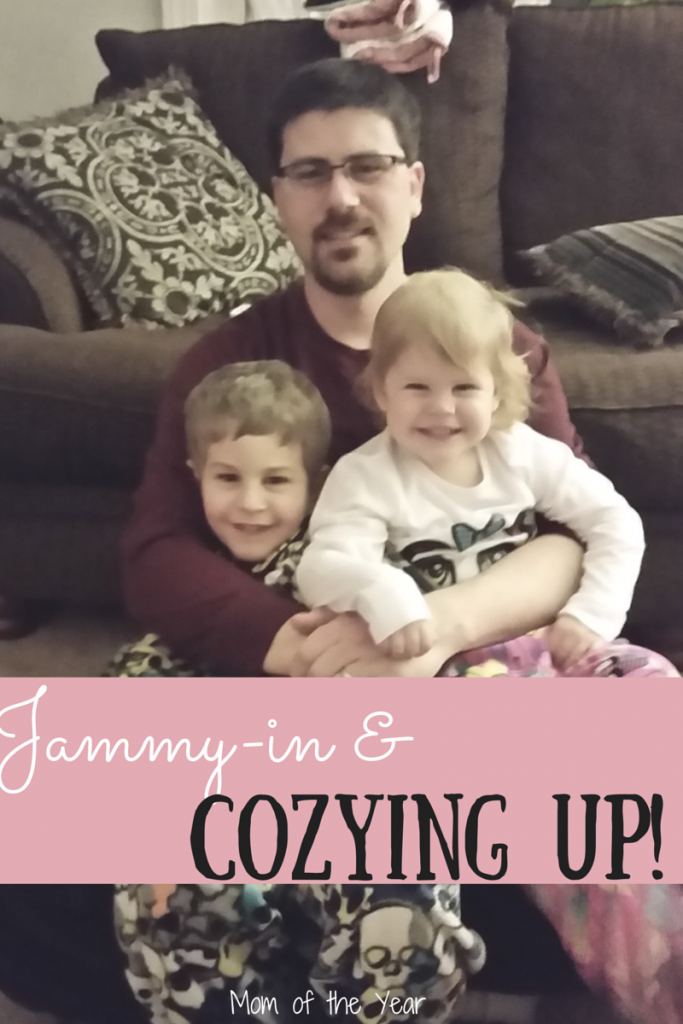 Cozying up in these jammies with your family is all the comfiness you can need! Snuggle in friends, the warmth is here!