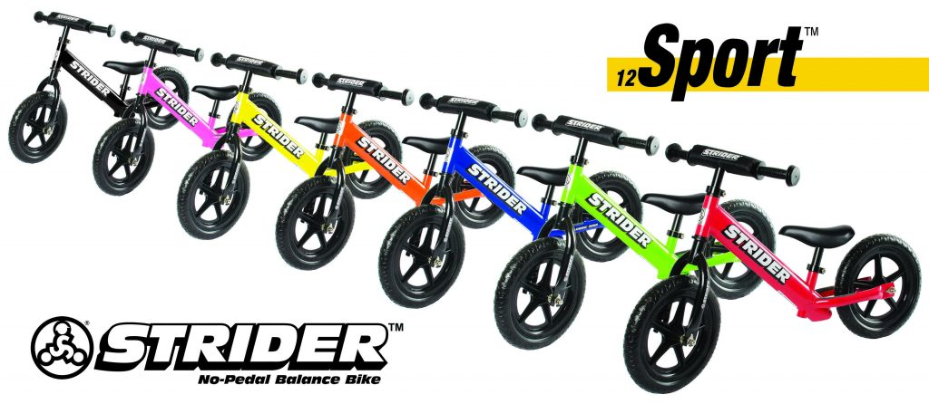 This brilliant no-pedal bike solution to teaching your kids to ride a bicycle comes in 7 different colors. Find the one that is the right match for your family and get to the fun part--riding your way into Spring!