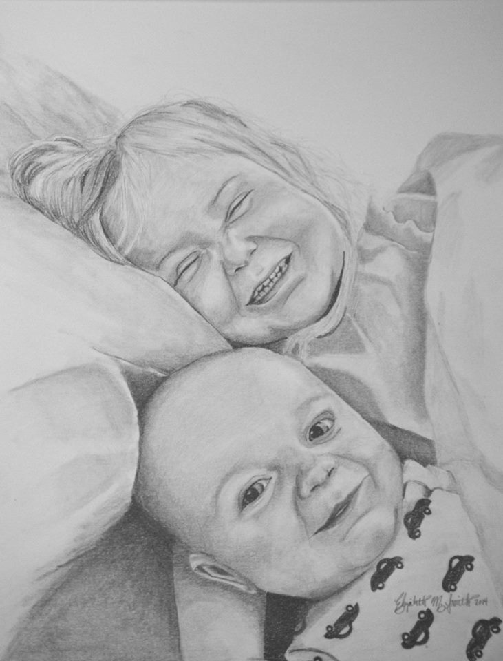 A one-of-a-kind pencil drawing is the PERFECT GIFT for Grandma or someone else going through a special time in their lives. Snatch up this amazing artistry at these sweet prices and make it a memory to last a lifetime!