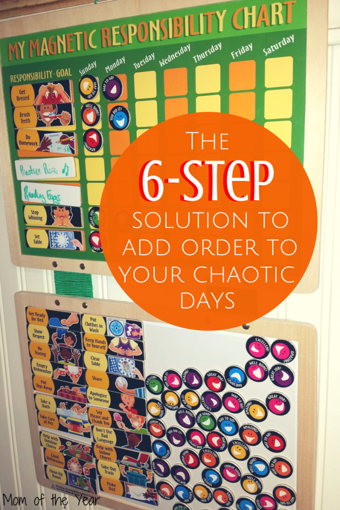 Crazy days with the kids getting away from you? Need control over the chaos? This solution saved our sanity and helped us get the most from our days. An easy-peasy win in 6 simple steps, mom!