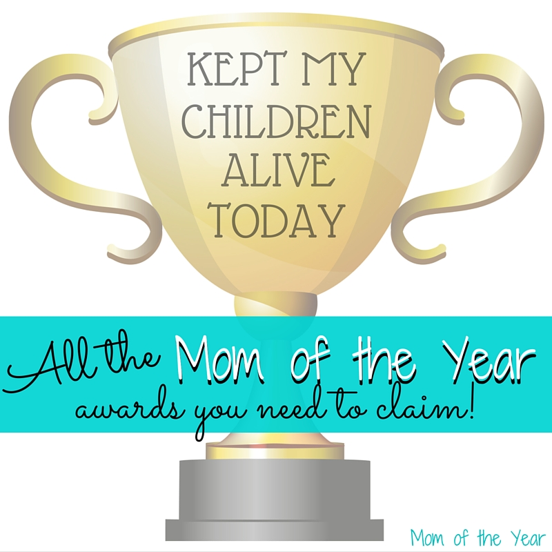This motherhood gig is TOUGH! And the thing is, whether you feel like it or not, you ARE acing it! Go ahead and award yourself for small victories along the way. Forget discouragement and despair--feel powerful for doing this incredibly hard job. And know that I'm cheering you on! Go you, Mom of the Year!