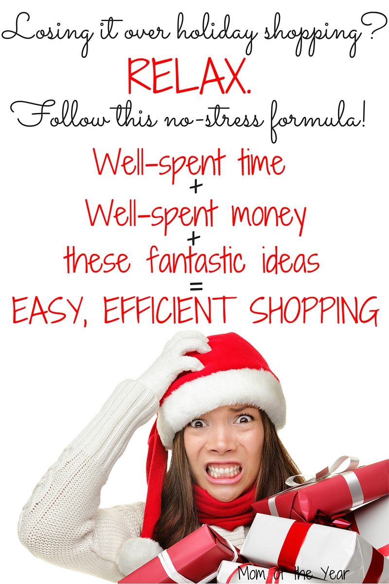 Losing it a bit over holiday shopping stress? Don't! Follow this smart formula for better, smarter shopping, not more stress and craze! You can cross off your whole list easy-peasy and relax to enjoy the rest of the Christmas season with this proven recipe for easy, efficient shopping.