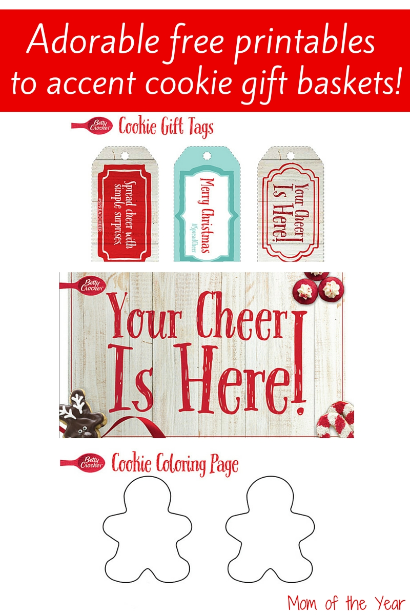 Use these adorable free Christmas cookie printables to get your holiday gift baskets decorated! Such a fun way to get the kids involved too--check out my cool idea to get them on board!
