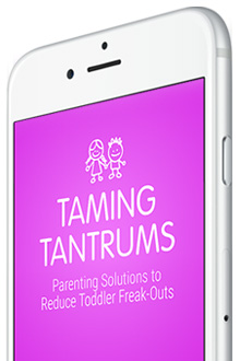 Need help battling temper tantrums? There's an app for that! And it's easy, and cheap and it WORKS. Scoop all the details here!