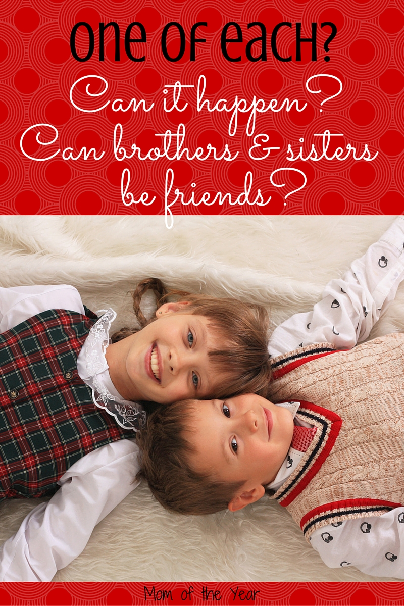 Have a boy and a girl and want them to be friends? I believe mixed gender close sibling relationships ARE possible and here are the ideas and tricks I'm using to make it happen--I can guarantee the first one will shock you! But it WORKS!!