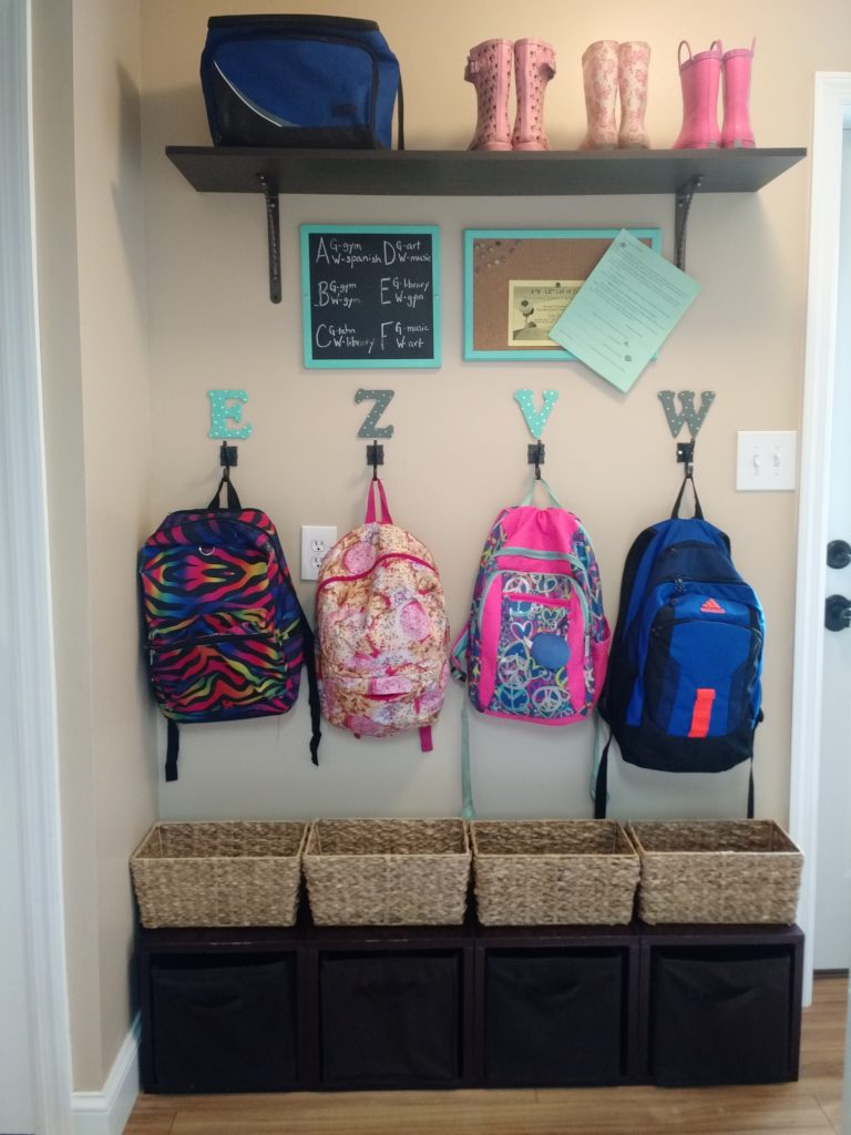 Organizing a mudroom in a small space the mom of the year Ideas for hanging backpacks
