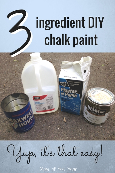 Make Your Own Chalk Paint And Use It The Easy Way The