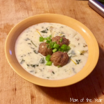 Creamy Vegetable Soup with Homemade Turkey Meatballs