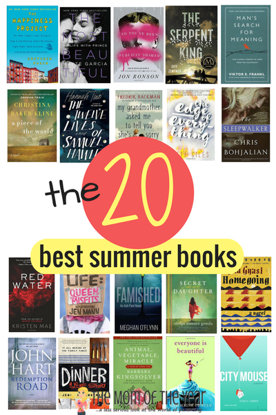It's here! The annual list of the 20 best summer books! All come highly recommended and are perfect reads to kick back with this summer! Plus, check out this incredible giveaway--100 copies of ONE book, a $250 Amazon giftcard and a bunch of new beach reads? Enter now!!