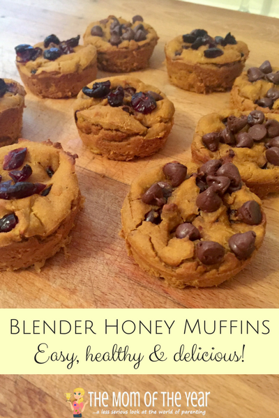Fall baking time! These Blender Honey Muffins are an easy, delicious, healthy recipe that will please the whole family! And check out these fun ideas for mix-ins!