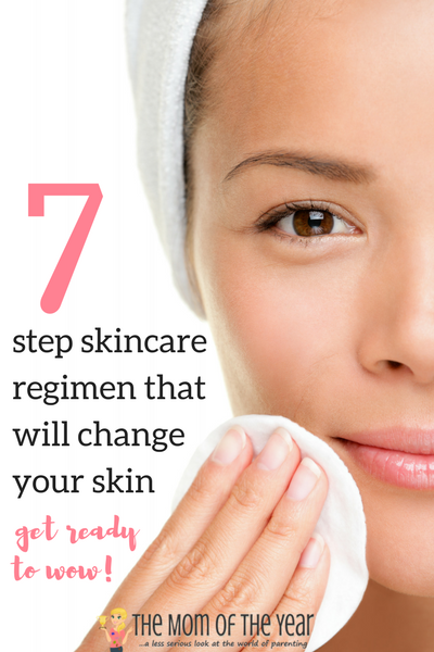 Taking care of your skin doesn't have to be complicated! Follow this easy, 7-step nighttime skincare routine will turn your skin around--get ready to be wowed! And never skip step 4--it REALLY matters!