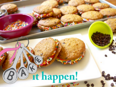 Looking for a REAL way to support breast cancer research and awareness? I LOVE the effort of Bake It Happen--the most innovative, cool fundraiser I've seen. Baking treats included!