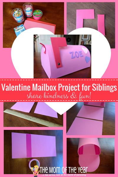This Valentine Mailbox isn't just a kids' craft, it's a smart sibling DIY project that teaches kindness and sibling love while bringing some special fun in the cold winter weeks leading up to Valentines Day! And make sure to grab this sweet FREE Valentine's note printable--adorable and fits perfectly with the mailbox craft!