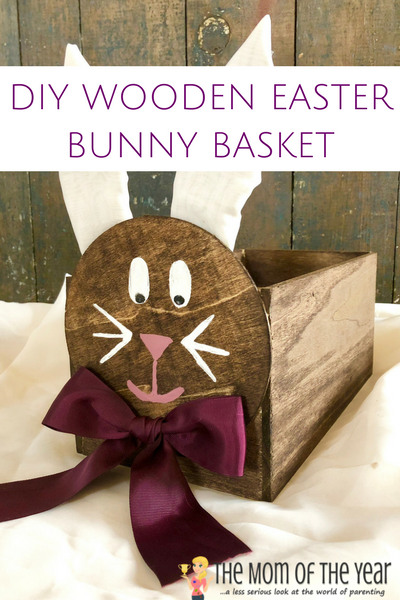 This is the perfect Easter DIY project! This DIY Wooden Easter Bunny Basket is easy and simple, and we've got all the how-to-steps for crafting this Easter basket here. Your kids will LOVE this, it is an amazing home decor piece and it will last for years to come! And check out how to make the adorable bunny tail for this Easter decoration--too cute!