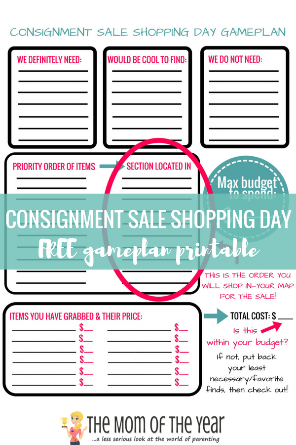Consignment sale 101 you need! Whether you are a consignment saleconnoisseur needing a refresher on getting the maximum benefit from a sale or a newbie to the consignment world, I've packed this post with lots of helpful how-tos and tips, plus created a handy printable for you to organize your sale day gameplan like a pro! So make sure to read up, get the whole scoop, then go ace those sales!