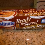 Minute Rice brown rice ready to serve #loveeeveryminute @meredithspidel