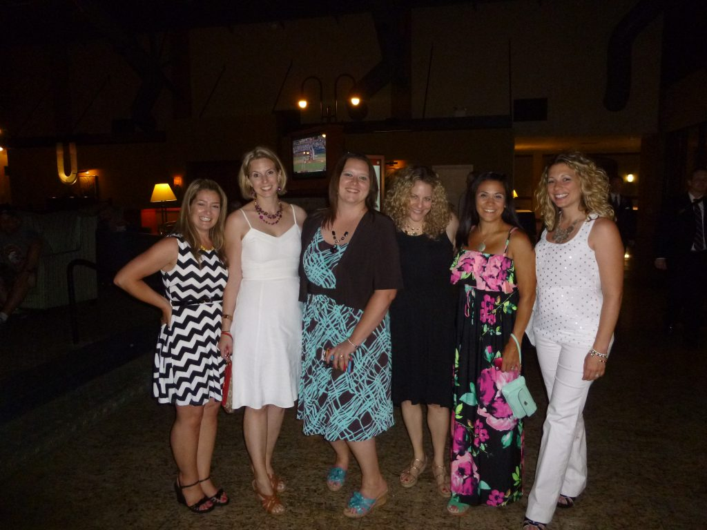 Stephanie, Me, Janene (the responsible for this disaster of a vlog), Jill (aka Scary Mommy), Christine, and Amanda