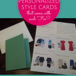 Fashion made easy! Get stylish finds shipped to your door and then just send back what you don't want. A personalized stylist walks you through each find, making suggestions with these cards!