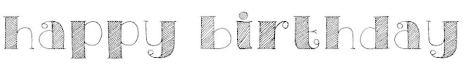 Birthday party chalkboard font @alisamalisa @meredithspidel