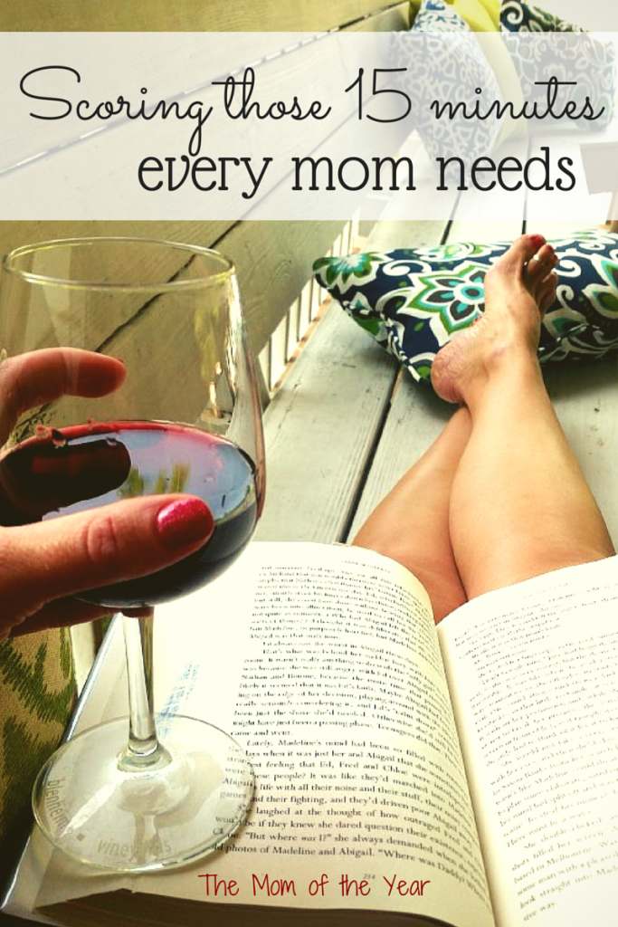 Every mom needs a break. You really, really do...go score those 15 minutes of alone time--here's how to do it!