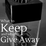 Knowing what to hold onto after someone leaves can be really tricky business. The careful art of holding on and letting go...