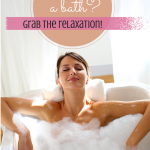 Moms need to relax too! Not an easy thing, but we'll keep trying for it, right? Someday those baths will happen!