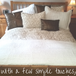 I have wanted to capture a peaceful feel in our bedroom for so long. Using these few simple tricks and touches, the room opened up and it's time to let the relaxation roll! Loved redecorating with this new decor!