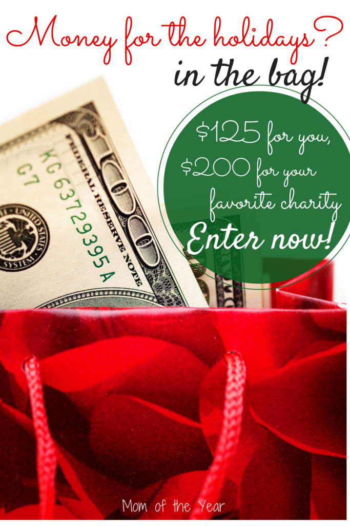 Win money to cover your holiday shopping list AND make a nice donation to a charity of your choice! Set aside holiday budget stress, enter now and score some cash!