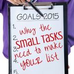 2015--the year of new beginnings, goals, resolutions, and cleaning out your junk drawer. Why it matters & why you need to claim your own small task to-do list for the new year!