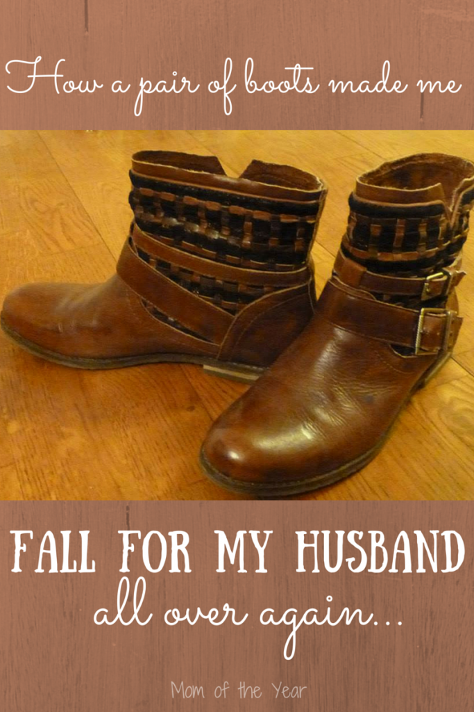 Who knew a pair of boots could define a relationship so well? I'm cherishing this pair--and my husband a whole lot more. Read this and find out why you need to get a pair of boots that don't fit!