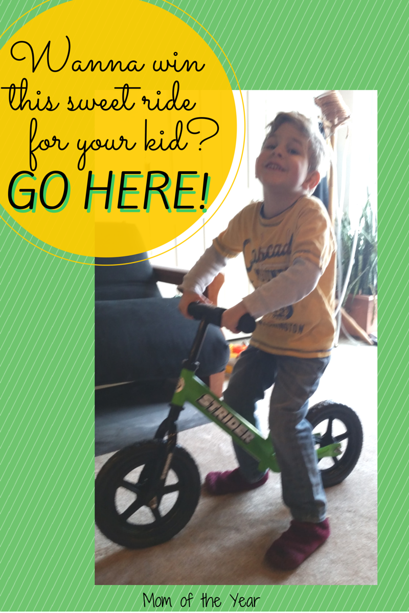 This brilliant no-pedal bike solution to teaching your kids to ride a bicycle comes in 7 different colors. Find the one that is the right match for your family and get to the fun part--riding your way into Spring! Score a free one here!