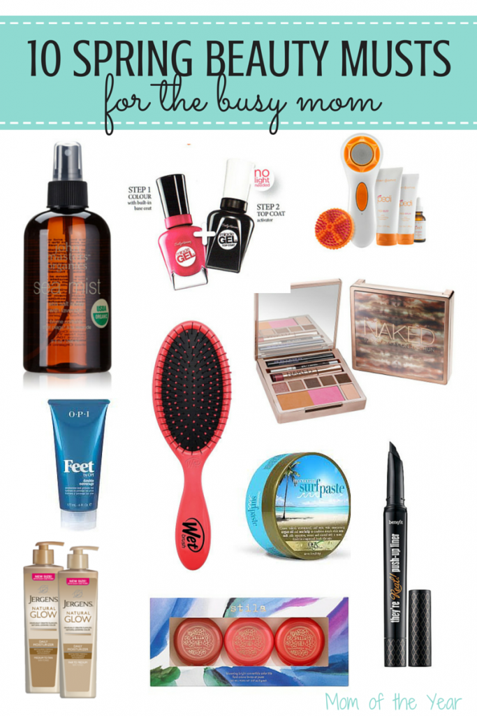 So check out these ideas to help you freshen up your arsenal of products that will help you feel and look your best this Spring--no extra time commitment involved. You're a busy mom with busy kids--but you still want to look human. I've got you covered with these products.