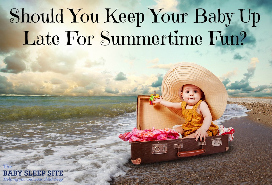 Summertime is full of trips and celebrations, but keeping your baby's sleep schedule sorted during all the fun can be so tricky? Are late bedtimes and skipped naps worth it? This smart sleep expert weighs in with all the considerations and tips for making sure your little one gets the rest she needs. I would never have thought of some of these smart tips and advice!