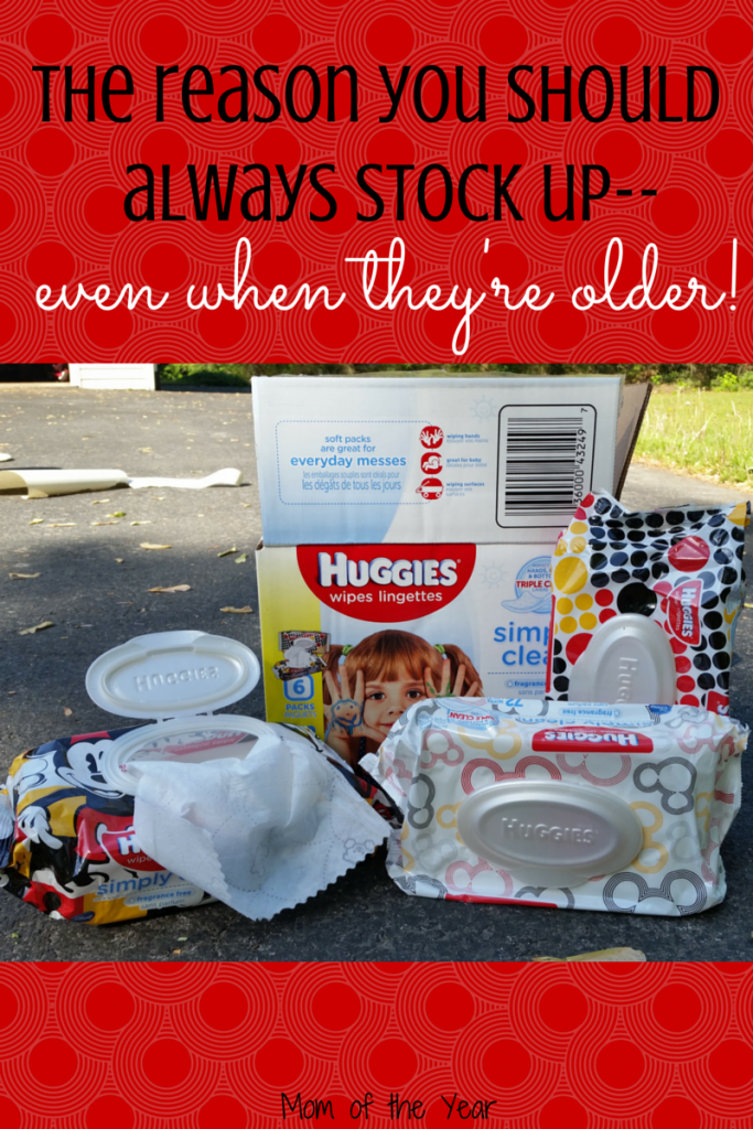 I thought we wouldn't need as many wipes as my kids got older and outgrew diapers, but boy, was I wrong! Here's why they are so great--with a bunch of cuteness to boot! Go stock up on this bow--you'll thank yourself later! Messy kids are here to stay!