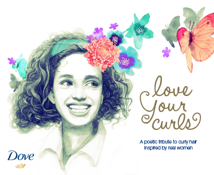 Got curls? Learn to love them and wear them proudly! The new Dove Quench Absolute products and Love Your Curls campaign/book, helps girls of all ages keep their hair healthy and wear their ringlets proudly!