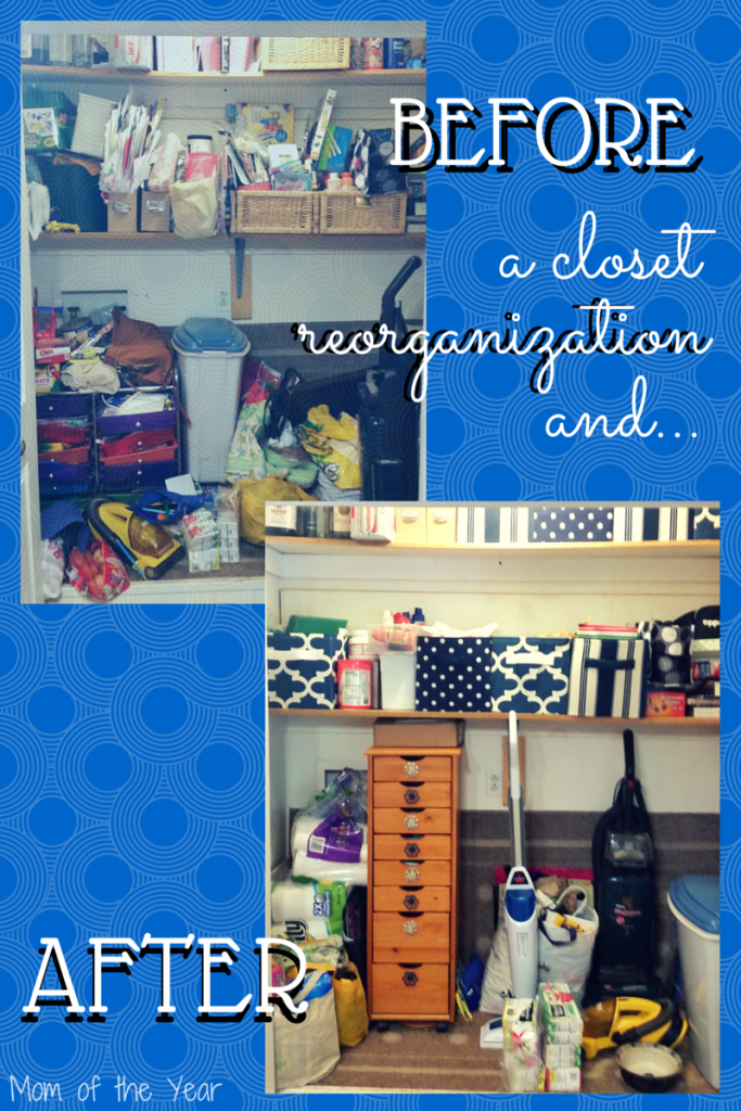Have a closet that is a messy pit in major need of some organizing? Try these tricks I used to make our former cluttered mess and tidy space that's user-friendly for all. And the ideas to add splashes of color are things you've probably never thought of! Make a pretty space in your home now!