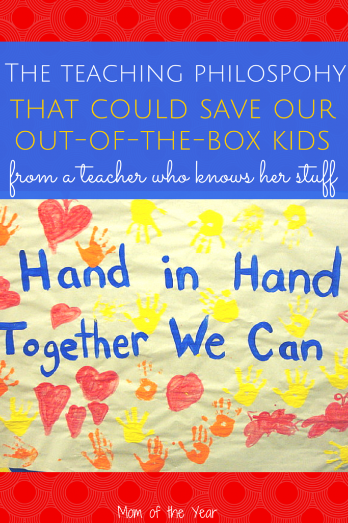 "This hands-on teaching philosophy will have you swooning when you think about your own ""out-of-the-box"" grade school kid. Read up on her ideas and you'll be sold! And, above all, FEEL RELIEVED. This parenting gig isn't easy, and when someone has a great idea, I swoon with relief! Check it out!"