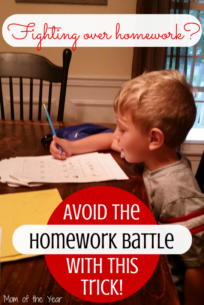 Homework beating you up? It doesn't have to, really! Make it an easy-peasy part of your day with this simple trick!