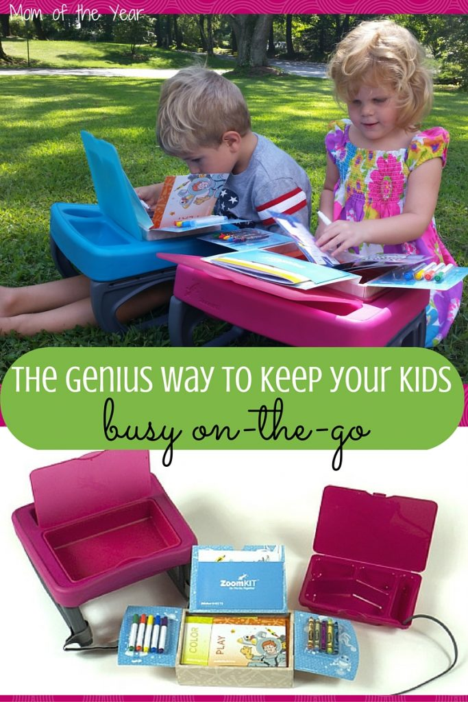 Looking for a slick way to keep your kids busy and fed while you're on the go or travelling? I am thrilled with this solution and I'll never look back!
