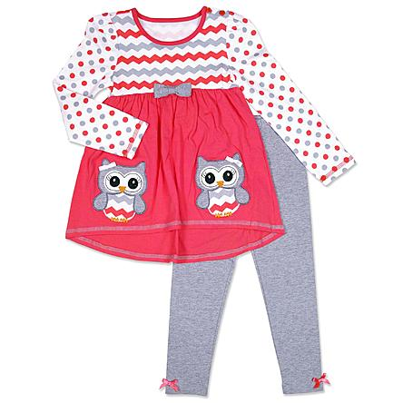 My husband does so well with outfit sets. It's not that he's stupid, it's that he doesn't understand girls' clothing. When everything can be adorably matched up, as it is with this set, it's a win for everyone!
