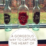 The sweet and powerful heart of the Cinderella movie is captured so beautifully in the wine bottle DIY craft. This home decor idea is a simple, easy way to add a touch of love, courage, heart, and kindness to your home decor!