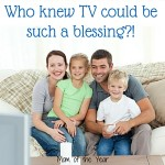 Family Television time can be a wonderful thing that the whole family--mom and dad AND the kids will enjoy. Get the scoop on how we made this happen and learn the trick to achieving this milestone in your own home. Make TV a blessing, not a curse that builds healthy family bonding!
