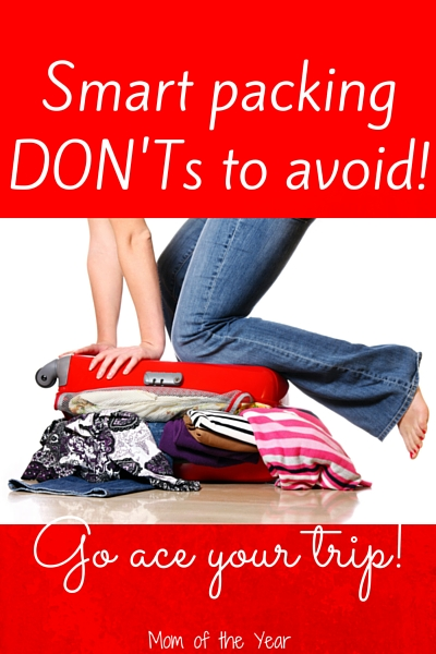 Headed off for a vacation? Here are the things you MUST avoid--taken from someone who has made ALL the packing mistakes! Get smart, get planning, and get packing for your vacation now! Trip planning for the win!